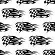 Stock Vector: Checkered black and white flag