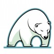 Stylized illustration of a sleepy white polar bear — ストックベクタ #39132195