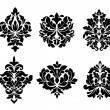 Stock Vector: Collection of six different arabesque designs