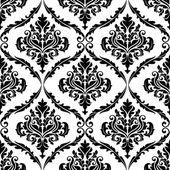 Patrón decorativo arabescos florales adornados — Vector de stock