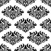 シームレスなダマスク スタイル花柄 — ストックベクタ