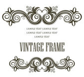 Vintage framing header and footer — Stock Vector