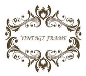 Vintage floral and foliate frame — Vecteur