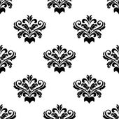 Foliate arabesque pattern for damask — Vecteur