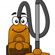 Stock Vector: Cute cartoon vacuum cleaner
