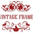 Pretty floral Vintage Frame — Stock Vector #39586147