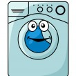 Stock Vector: Washing machine cartoon illustration