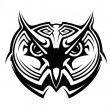 Tribal owl tattoo — Stock Vector #39586387