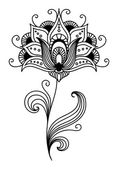 Ornate persian floral design — Stock Vector