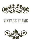 Vintage frame border elements — Stock Vector