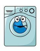 Washing machine cartoon illustration — Stock Vector