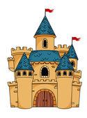 Středověké kreslený hrad — Stock vektor