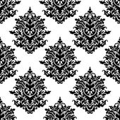 Ornate seamless pattern with foliate arabesque motifs — Vecteur
