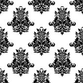 Foliate arabesque motif seamless pattern — Vecteur