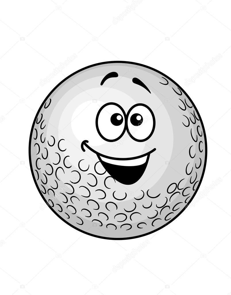 Pallina da golf divertenti cartoon — vettoriale stock