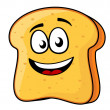 Stock Vector: Slice of bread or toast with beaming smile