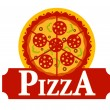 Pizza sign — Stock Vector