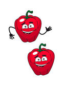 Two happy smiling red bell peppers — Stock Vector