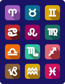Set of icons of the signs of the zodiac — Wektor stockowy