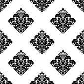 Foliate arabesque motifs in a diamond pattern — Vecteur