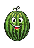 Cheerful goofy watermelon — Stock Vector