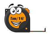 5 metre or 16 foot long tape measure — Vector de stock