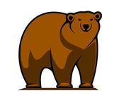 Big brown grizzly or brown bear — Stock Vector
