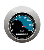 Car speedometer showing someone speeding — Stock Vector