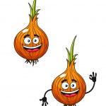 Cartoon happy smiling fresh onion — Stock Vector #40490069