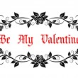 Be My Valentine header — Stock Vector