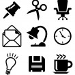 Set of office icons — Stockvektor