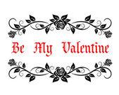 Be My Valentine header — Stock Vector