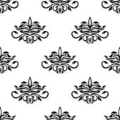 Seamless pattern for damask style fabric — Stock Vector