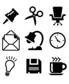 Set of office icons — Stockvector