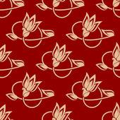 Wiederholen Sie die florales Muster in ein nahtloses design — Stockvektor