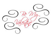 Be My Valentine greeting header — Stock Vector