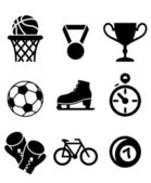 Collection of sports icons — Stockvector