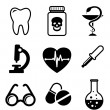 Vettoriale Stock : Collection of medical icons