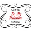 Stock Vector: Be My Valentine frame