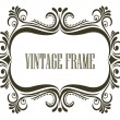 Stock Vector: Vintage frame with embellishments