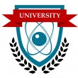 Stock Vector: University emblem design