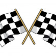 Crossed black and white checkered flags — Stok Vektör #40954785