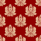 Damask style repeat floral design — Vecteur