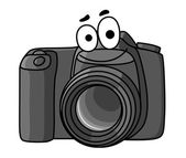 Cartoon digital camera — Stock Vector
