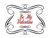 Be My Valentine frame — Stock Vector