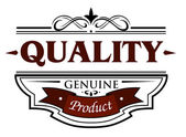 Quality genuine product banner — Stock Vector