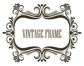 Vintage frame with embellishments — Stock Vector