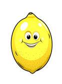 Cute little lemon with a happy grin — Stock Vector