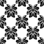 Seamless floral pattern in black and white — Stock Vector