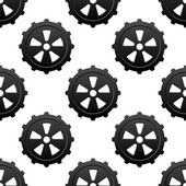 Gear and pinion seamless pattern — Stockvektor